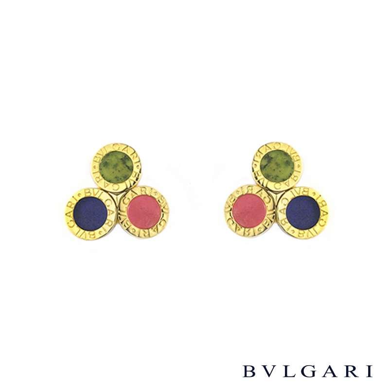Bvlgari 18k Yellow Gold Circular Earrings
